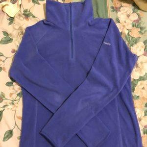 Columbia glacial fleece purple 1/2 zip up